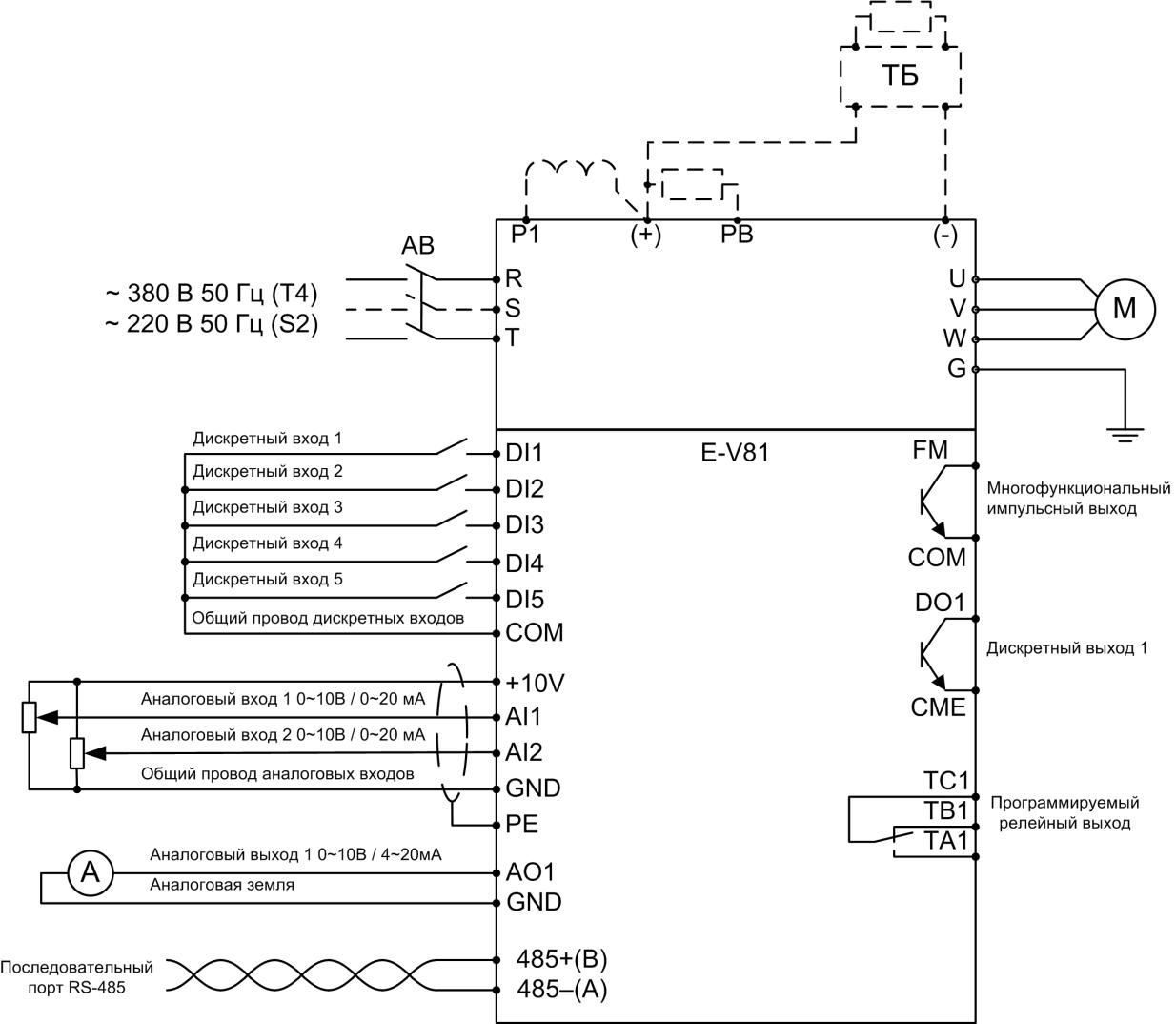 Схема частотного преобразователя ERMAN E-V81